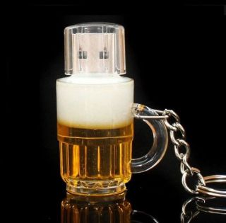 New Cartoon Beer Bottle USB 2 0 Memory Flash Stick Pen Drive 4GB 8GB 16GB 32GB