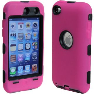 New Deluxe Pink Hard Case Cover Skin for iPod Touch 4 4G 4th Gen Screen Guard