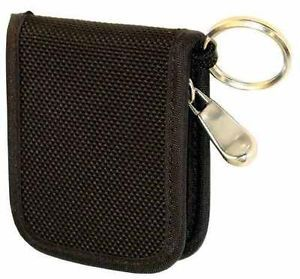 New Black Padded Heavy Duty Nylon USB Flash Memory Drive Zipper Case w Keyring