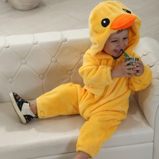 Xmas Cute Boys Girl Hoodie Duck Romper Party Costume Baby Toddler Jumpsuit 0 2T