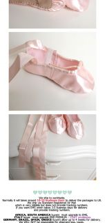 Princess Ribbon Ballet Shoes Slippers All Sz Baby Girl