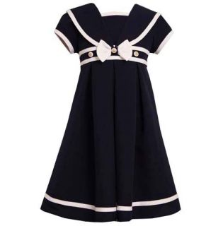 New Girls Bonnie Jean Sz 8 Navy Sailor Dress Easter Nautical Spring Clothes