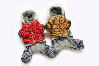 Autumn Winter Cool Camo Dog Clothing Wear Coat Warm Dog Jacket Sweater Clothes