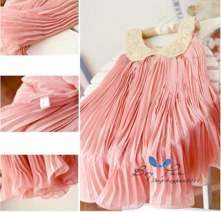 Lovely Kid Toddlers Girls Princess Sleeveless Chiffon Tutu Dress Sundress Style