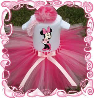 Baby Girl Tutu Dress Minnie Mouse Custom Boutique Set Birthday ★★