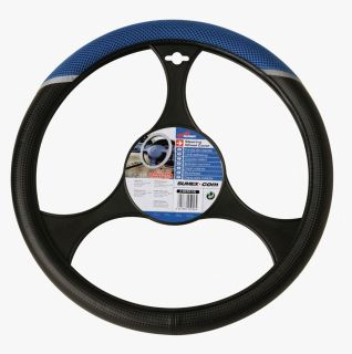 Sumex Blue Carbon Terylen Steering Wheel Cover 37 39cm Driving Glove Sports Race
