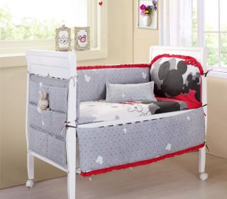 Baby Bedding Crib Cot Sets 9 Piece Mickey Mouse Theme RRP $150