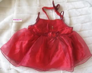 New Baby Girls Clothes Chiffon Dress Newborn 6M Red