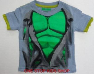 The Incredible Hulk Boys 2T 3T 4T Tee Shirt Top Marvel Avenger Super Hero