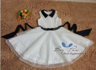 New Kids Sweet Girls Evening Dress Flower Princess Party Dresses Tutu Sz3 12y