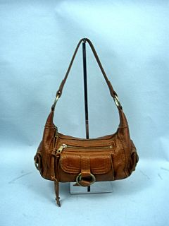 Small Brown Leather Hobo Handbag by Banana Republic