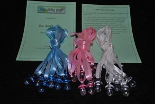 Baby Shower Dummy Game on Satin Ribbon Unisex or Mixed