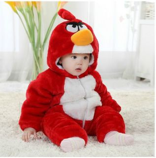 Baby Boys Girl Winter Snowsuit Fleece Hoodie Jumpsuit Outwear Cozy Bird