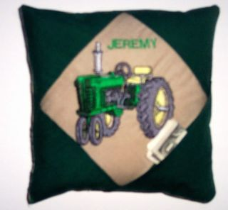 Personalized Tooth Fairy Pillow Poem Tractor