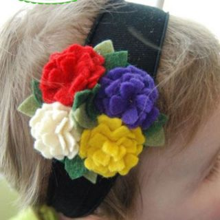 Colorful Wedding Party Princess Hair Decor Headdress Baby Infant Girl Headband