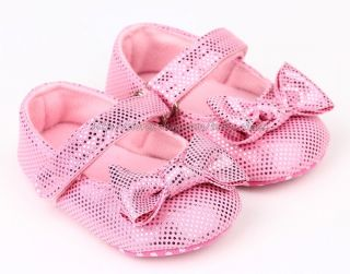 Pink Mary Jane Toddler Baby Girl Wedding Party Shoes Newborn to 18 Months