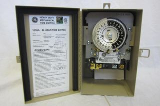 As Is GE 15350 Indoor Outdoor Heavy Duty Mechanical Timer Switch 120V
