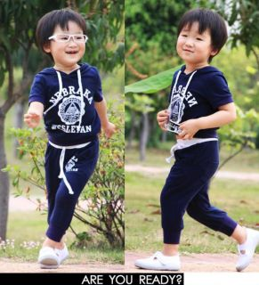 New Fashion Baby Toddler Children Kids Boys sweat Suit Cute Sportswear Set 2 6Y