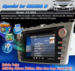 3G Internet Pip Car DVD GPS Navi Stereo HD for New Mazda 6 2008 2012 Free Camera