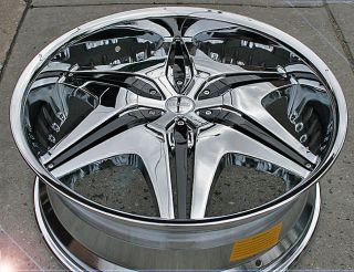 "Akuza Big Papi 712 20"" Chrome Rims Wheels Ford Explorer FX35 MDX 45 5H"