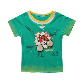 Sz 12 18M 2012 New Cotton Infant Baby Boys T Shirts Kids Boys Clothes Green