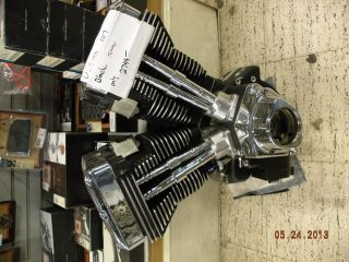 "Ultima Black Chrome EVO Motor Engine Harley Chopper Custom 107"" Big Bore s s Cam"