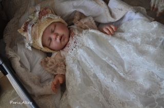 Innocence French Lace Christening Dress Hat 4 Reborn Baby Doll