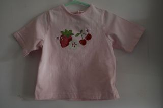 Preemie Baby Girl Flower T Shirts Top 12 24 Months Pink