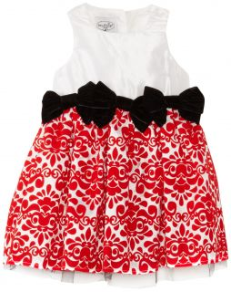 Mud Pie Baby Toddler Little Girls Red Damask Christmas Dress Size 2T