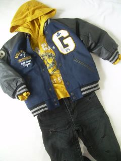 New Boys 4T 5T Gap Jeans Skull Hoodie Shirt Letterman Jacket Coat Winter Outfit