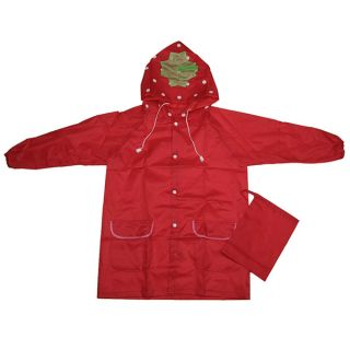 Cute Cartoon Children Kid Boy Girl Hooded Raincoat Rain Coat Waterproof Jacket