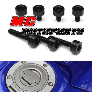Black Honda Gas Fuel Cap Bolts Kit CBR1000RR 2004 2005 2006 2007