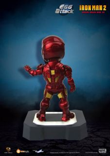 "Egg Attack 7"" Marvel Iron Man 2 ea 001 Mark IV MK4 LED Light Up Figure EMS US"