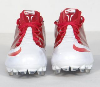 Nike Zoom Vapor Carbon Flywire TD Low Football Cleats Red White Mens