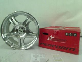 "American Racing Estrella AR95T AR195 Machined Wheel w Clear COAT17X7 5"" 5x127mm"