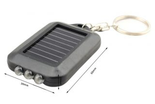 Mini Solar Power Panel Flash Light 3 LED Flashlight Torch Lamp Light Keychain