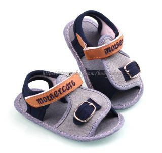 Toddler Baby Boy Soft Sole Crib Shoes Denim Sandals Size Newborn to 18 Months