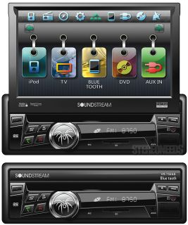 Soundstream VR 750NB Car DVD CD  Player Touch Screen Monitor Bluetooth 1 DIN