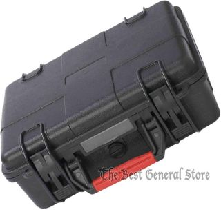 Black Heavy Duty Pistol Handgun Gun Revolver Hard Case Water Resistant Holds Two