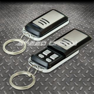 1 Way Remote Car Auto Security Alarm Siren Search T24 4 Chrome Buttons Slider
