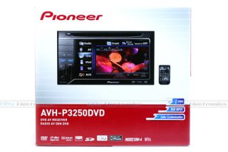Pioneer AVH P3250DVD Double DIN DVD iPod Car Monitor