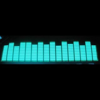 50 16 Blue Sound Music Activated Car Sticker DC 12V Equalizer Light El Panel LED