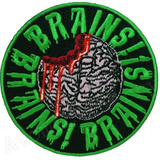 Kreepsville 666 Brains Patch Zombie Horror Rockabilly Tattoo Punk Gothic