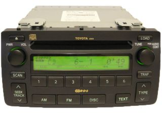 03 04 05 06 07 08 Toyota Corolla RDS Radio 6 Disc CD Changer Player A51814