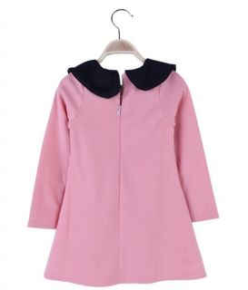 Size 2 7Y New Casual Girls Clothing Kids Long Sleeve Lotus Leaf Collar Dress