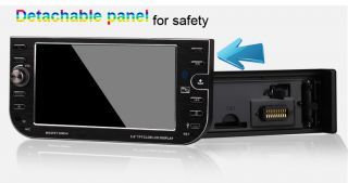 "Detachable 5 6"" TFT 1Din in Dash Car DVD Player Compatible Bluetooth Camera"