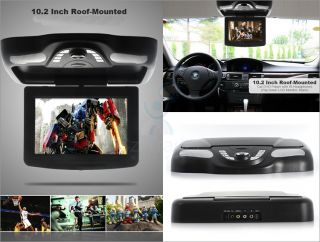 "10"" inch Roof Mounted Car DVD Player with Games Play Controller FM Transmitter"