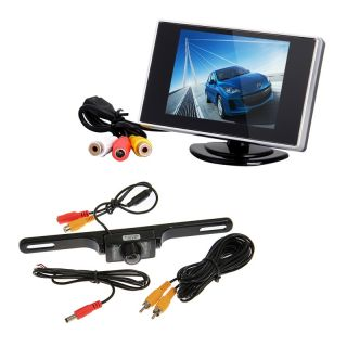 "3 5"" TFT LCD Car Rear View Monitor Night Vision Car Rear View Backup Camera"