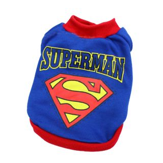 Pet Dog Puppy Apparel Superman Set Warm Costumes Outfit Clothes T Shirt Coat