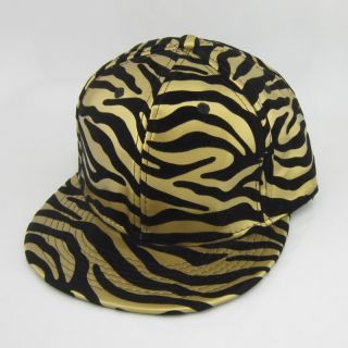 New Leopard Hiphop Fashion Adjustable Baseball Cap Flat Hat Adult Gold White Red